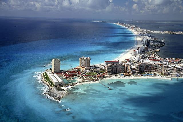 Cancun beach  resort in Mexico