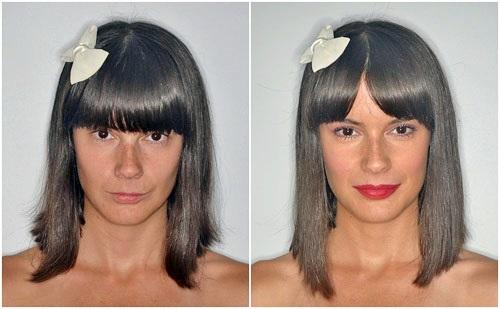 maquillaje antes y después colección Hypnotic Stage Line Makeup