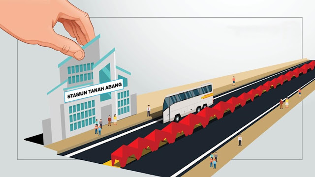 Gubernur Anies Baswedan Menata PKL Tanah Abang