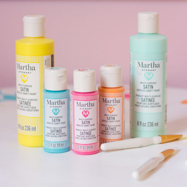 New family-friendly acrylic paints from Martha Stewart #marthastewart
