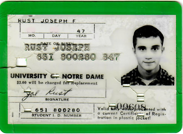 69 Domers\u0027 1965 Notre Dame Identification Cards and Other Essential - student identification card