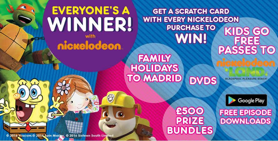 Nickalive Nickelodeon Uk And Argos Launch Everyones A Winner