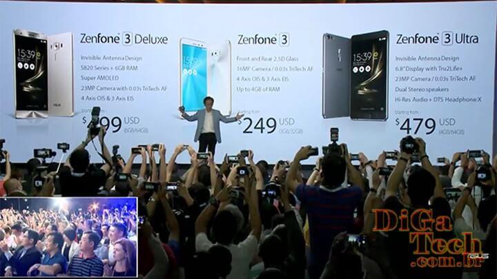 Apresentação nova linha smartphones Asus ZenFone 3