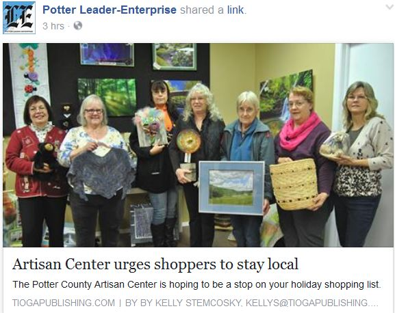 http://www.tiogapublishing.com/potter_leader_enterprise/news/local/artisan-center-urges-shoppers-to-stay-local/article_14b81b8e-a5ec-11e6-baea-7fe6b8b4423d.html