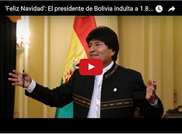 Evo Morales indulta a 1800 presos en navidad