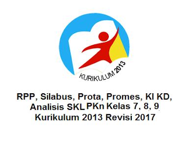 RPP, Silabus, Prota, Promes, KI KD, Analisis SKL PKn Kelas 7, 8, 9 Kurikulum 2013 Revisi 2017