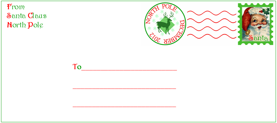 santa envelope template choice image template design ideas