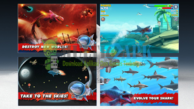 Game Hungry Shark Evolution Terbaru Versi 4.8.0 Apk Mod Coin Gems Unlocked
