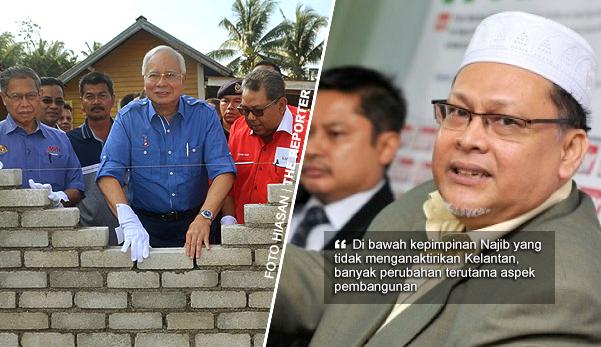 """""""Najib bawa lebih banyak pembangunan Kelantan berbanding Tun Dr Mahathir"""" -  Kata Timb MB Kelantan"""