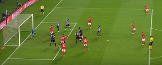 عمرو وردة يسجل هدف تعادل باوك أمام بنفيكا