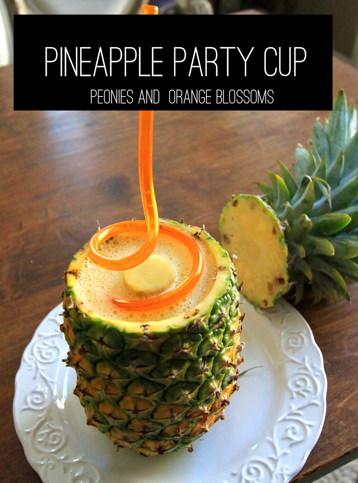 Dole whip Recipe with Pineapple Cup