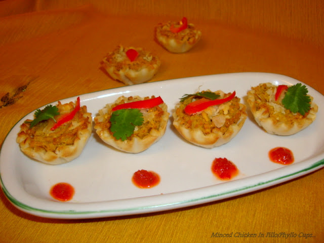 images for Minced Chicken In Filo Cups / Chicken In Phyllo Cups / Chicken Mince In Mini Phyllo CupsChicken