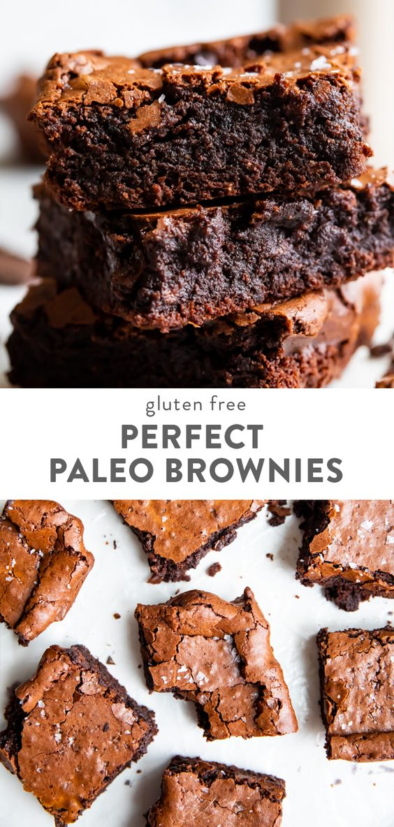 Perfect Paleo Brownies (Fudgy, Crackly Top, Gluten Free)