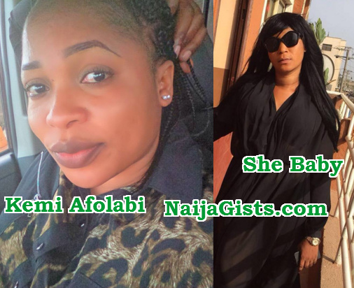 kemi afolabi borrowed clothes she baby