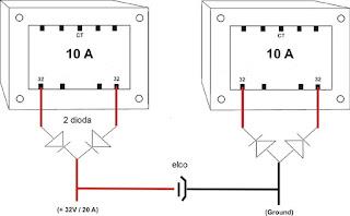 cara menyambung trafo, cara menggabung 2 trafo, cara menambah ampere pada trafo ct,