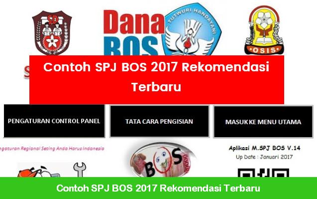 Contoh SPJ BOS 2017 Rekomendasi Terbaru
