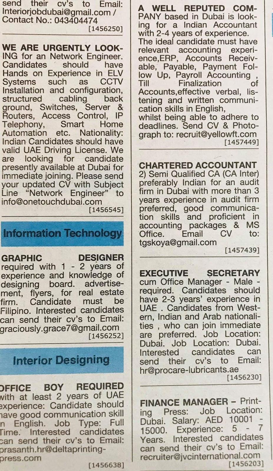 UAE Jobs Local Hiring Khaleej Times-UAE-0811934- Jobs in Abroad