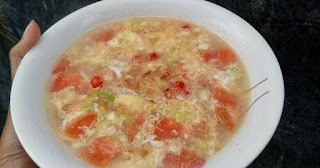 tomato-and-egg-soup,www.healthnote25.com