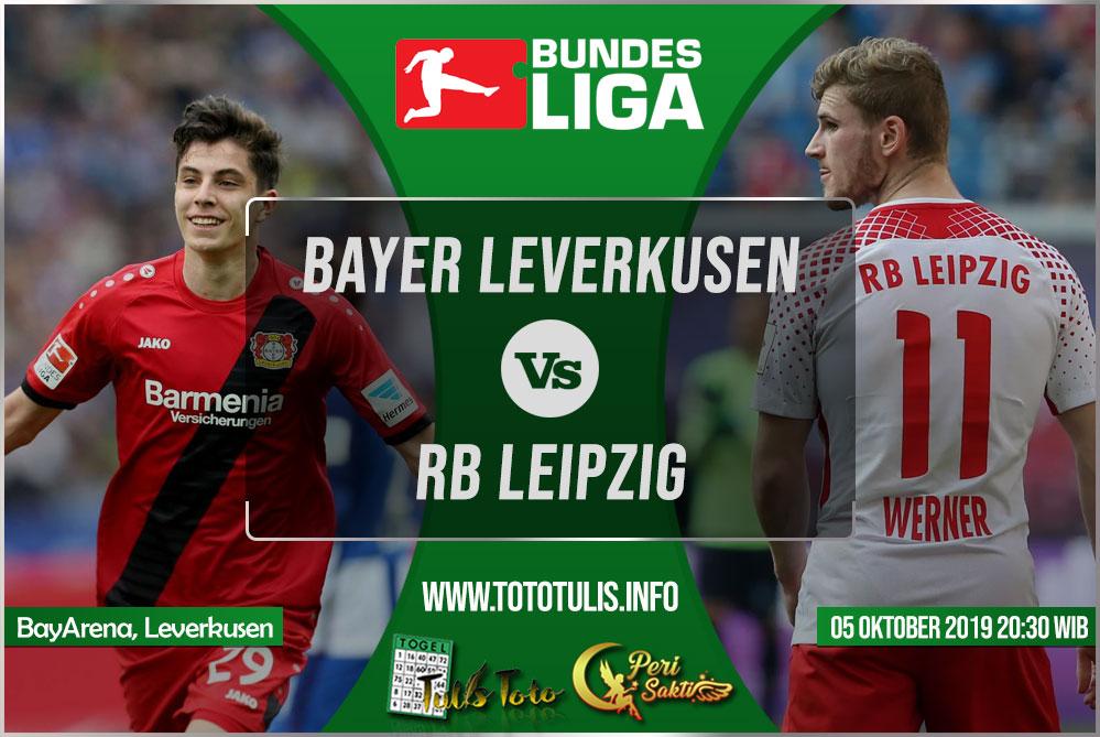 Prediksi Bayer Leverkusen vs RB Leipzig 05 Oktober 2019