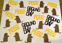 Die-Cut Handmade Groundhog Day Confetti