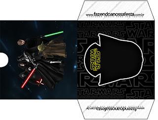 Etiqueta Funda CD´s para Imprimir Gratis de Star Wars.