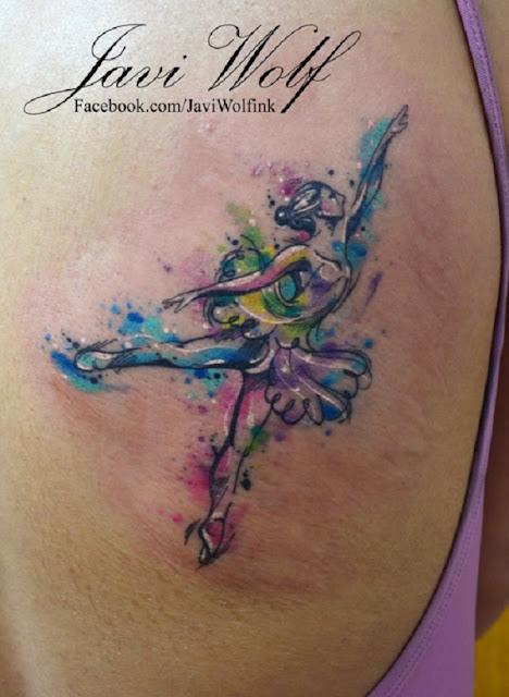tatuagem bailarina