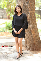Actress Hebah Patel Stills in Black Mini Dress at Angel Movie Teaser Launch  0109.JPG