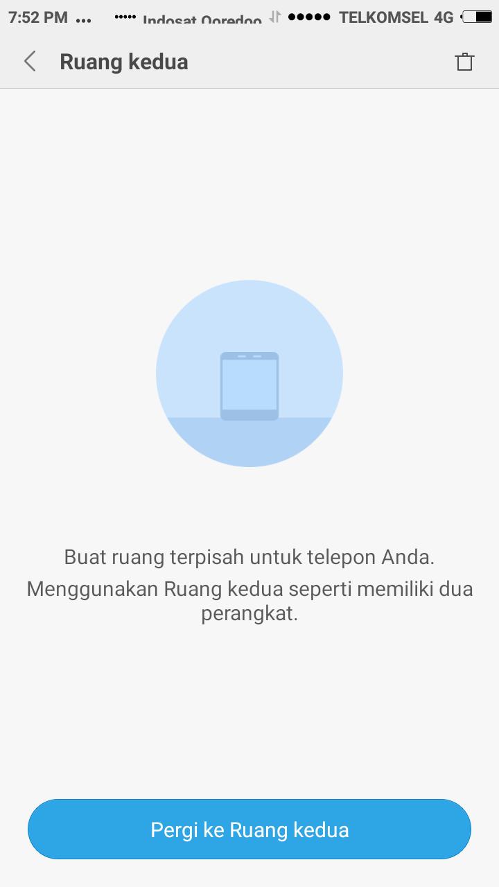 Fungsi Ruang Kedua Di Android Xiaomi Mi Redminote Ram 2 16 Gb Dualpro 12ghz Ini Dia Fitur Ruangan Satu Dan Dua Smartphone Redmi