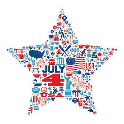 Picture of red, white, and blue star