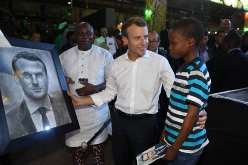 Gov Ambode Honours Talented Boy Who Drew Portrait Of French President