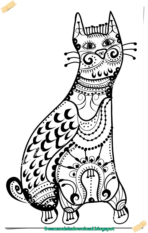Katzen-Mandala kostenlos Ebook-Cats mandala free ebook - Free Mandala