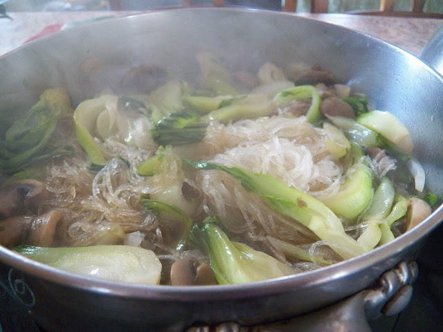 Bok Choy and Bean Thread Noodles