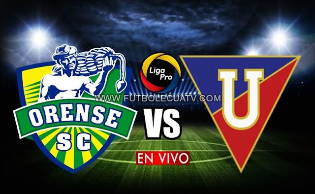 Orense recibe a Liga de Quito en vivo prosiguiendo la fecha 5 de la Liga Pro, siendo emitido por GolTV Ecuador a jugarse desde las 15h45 horario local en el estadio 9 de Mayo ciudad de Machala. Con arbitraje principal de Gabriel González.