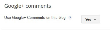 Enable Google+ comment on blogger