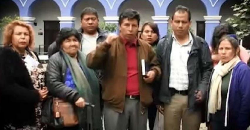 PEDRO CASTILLO: Dirigente anunció paro de profesores para este 28 de noviembre
