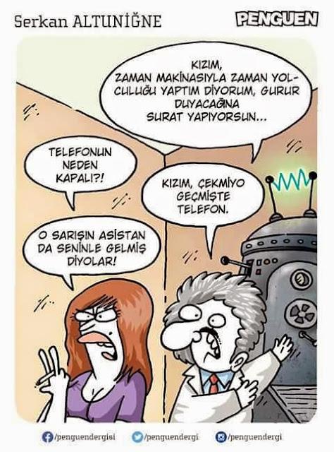 Zaman Makinesi Karikatürü (Serkan Altuniğne)
