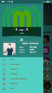 BBM MOD Chat Me Slow Green Apk