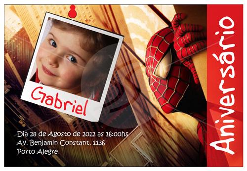 convites aniversario homem aranha 12 - Convites de Aniversário do Homem Aranha