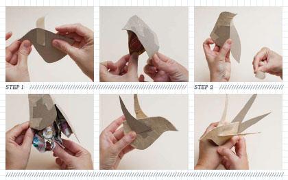 3D Paper Bird Templates Archives