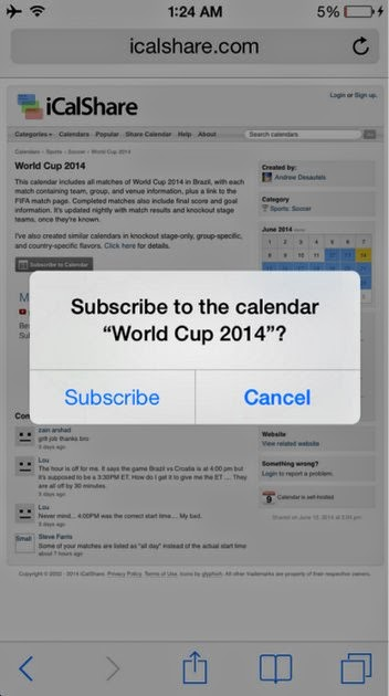 Subscribe to World Cup 2014