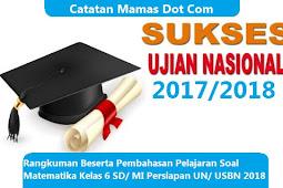 Rangkuman Beserta Pembahasan Soal Pelajaran Matematika Kelas 6 SD/ MI Persiapan UN/ USBN 2018