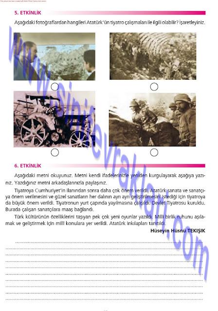 Ezde Yayınları 7. Sınıf Türkçe Çalışma Kitabı Cevapları Sayfa 49