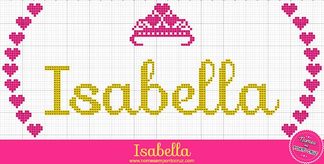 Nome Isabella em Ponto Cruz – Gráfico Princesa - 01