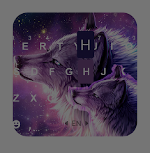 Starry Wolf Keyboard Theme 1