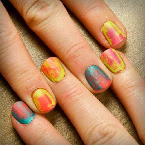 Paint nail arts