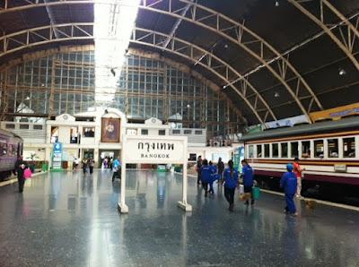 Hua Lumphun train station in Bangkok