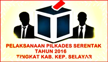 Hasil Sementara ,Pilkades Serentak 2016, Selayar
