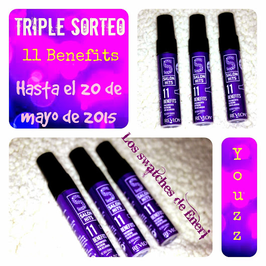 TRIPLE SORTEO DE SALON HITS 11 BENEFITS DE REVLON