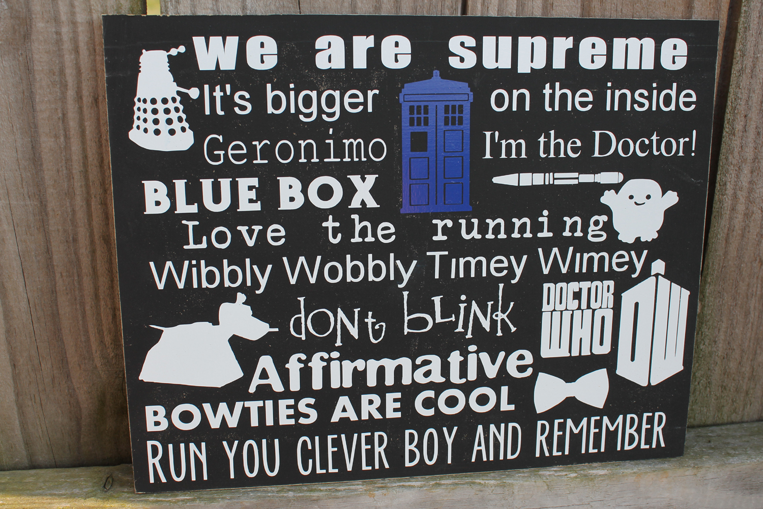 Doctor Who Inspired Signs