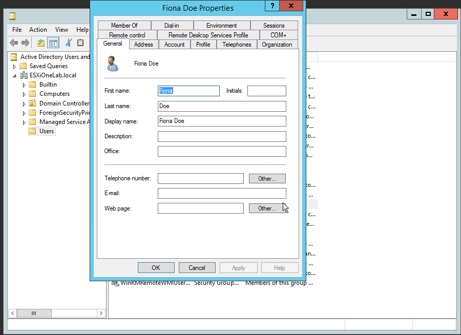 Windows Server 2012 R2 User Account Management - Code